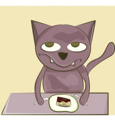 cat with sweets vector image vector image