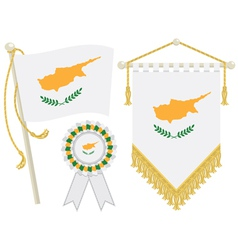 cyprus flags vector image vector image