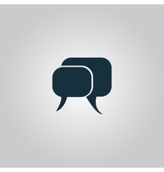 dialogue quote icon vector image vector image