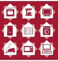 Home electrical appliances set vector image