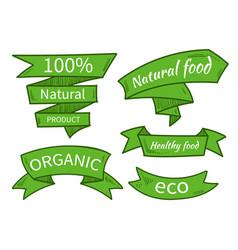 natural food eco organic product vector image vector image