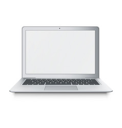realistic laptop ultrabook isolated on vector image vector image
