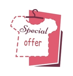 Special offer sale on t shirts banner buy now vector