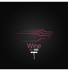 wine bottle corkscrew design background vector image vector image