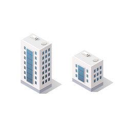 3d isometric dimensional city building house vector
