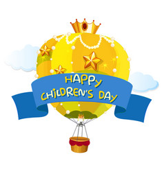 a happy children day template vector image