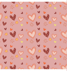 abstract doodle love seamless pattern template vector image