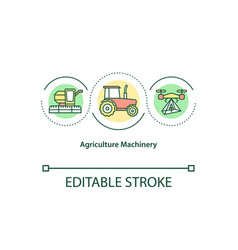 Agriculture machinery concept icon vector