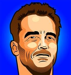 Arnold Schwarzenegger Portrait vector