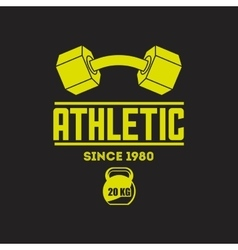 Athletic training design vector