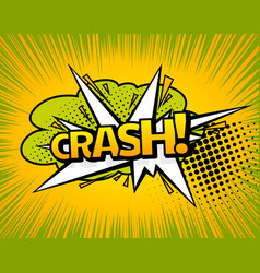 background with boom comic book explosion vector image