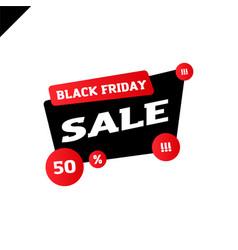 black friday sale for your design poster or banner vector image