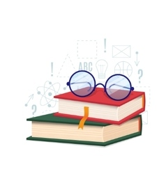 Book and glass vector image