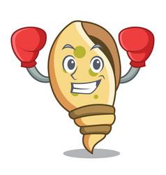 boxing sea shell character cartoon vector image