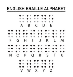 Braille english alphabet letters vector