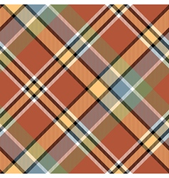 Brawn beige yellow check plaid seamless fabric vector