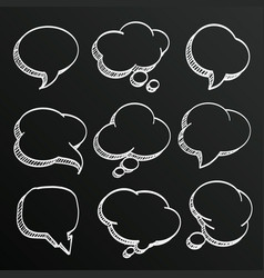 chalkboard sketch hand drawn comic speech vector image