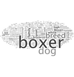 Characteristics boxer dog is a boxer right vector