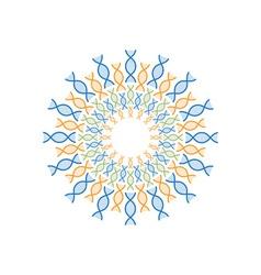 circle dna spiral design template vector image