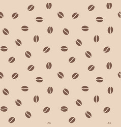 coffee beans seamless pattern background vector image