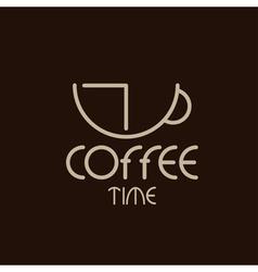 Coffee time concept design template vector