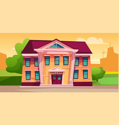 college building vector image