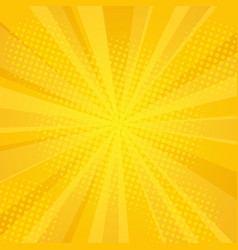 comics rays background with halftones vector image