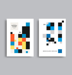 Corporate geometric poster with square pattern vector