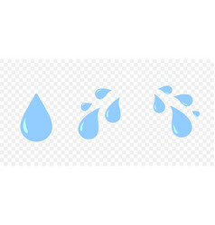 crying teas eye isolated cartoon sad emotion vector image