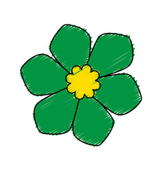 Cute flower spa emblem vector