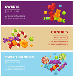 delicious sweet candies promotional internet vector image