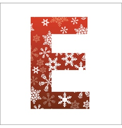 E Letter vector image vector image