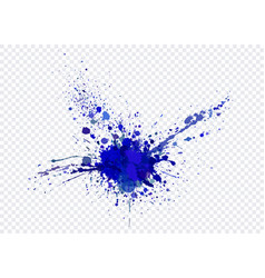 Explosion and scatter paint on a transparent vector