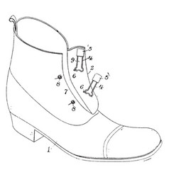 Fastening for shoe made of leather or similar vector