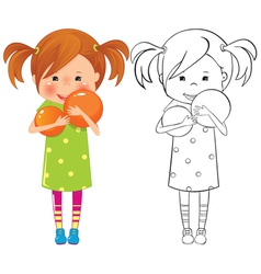 Girl with ball vector image
