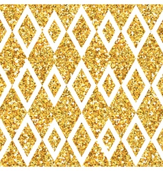 Golden Geometry Glitter Background vector image