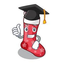 Graduation cartoon christmas socks for gifts vector
