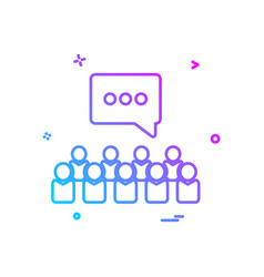 group discussion chat talking icon design vector image