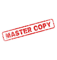 Grunge master copy rounded rectangle stamp vector