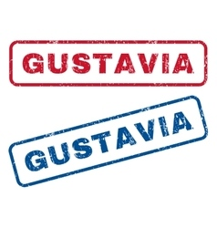 Gustavia Rubber Stamps vector image