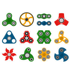 Hand spinner toys for anti stress games vector