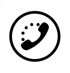 handset icon black vector image