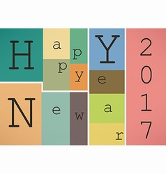 Happy New Year 2017 in vintage style vector