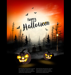 holiday halloween spooky background vector image