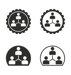 Human interaction icon set vector image
