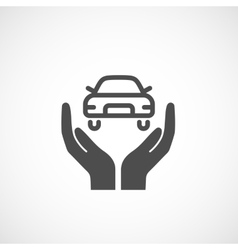 Icon car insurance vector image