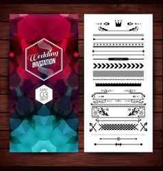 image of rectangular wedding invitation vector image