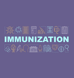 Immunization word concepts banner vector