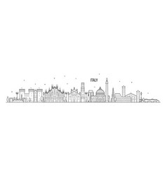 italy skyline country buildings linear art vector image