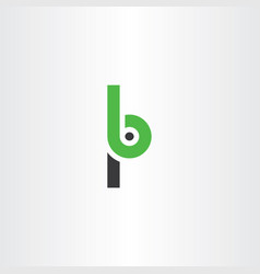 letter p and b logo icon vector image